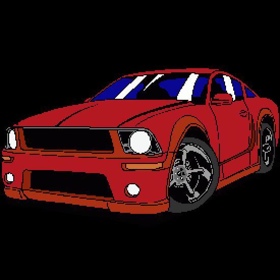Dibujos para colorear coches de carreras: Ford Mustang - Dibujos ...