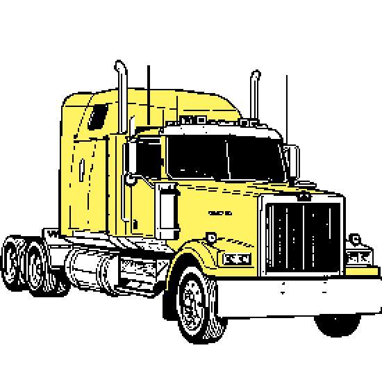 Trailers kenworth dibujos imagui - Camion americain dessin ...