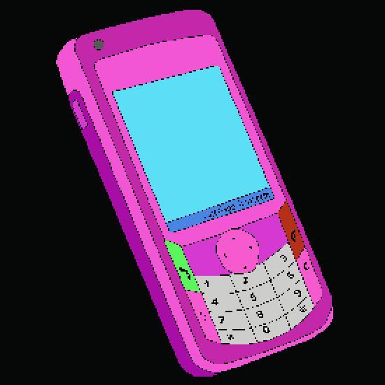 Diseño de teléfonos móviles - varios dibujos libres para colorear ...