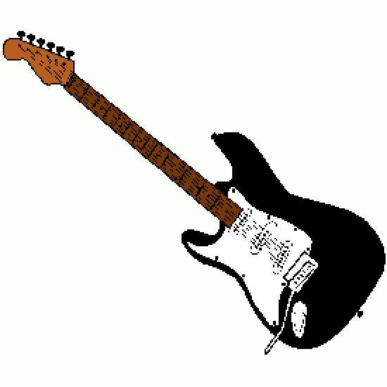 Guitarra eléctrica - varios dibujos libres para colorear en línea